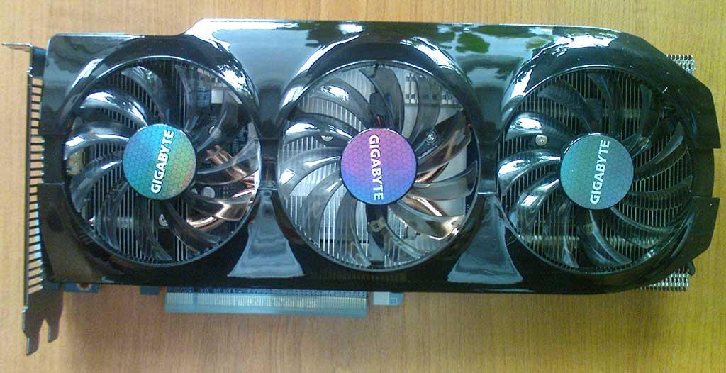 GIGABYTE Radeon HD7870 вид сверху
